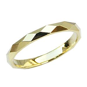 地金リング シンプル メンズ 指輪 K18 ゴールド デザインカットリング 結婚指輪 送料無料 父の日 バレンタイン