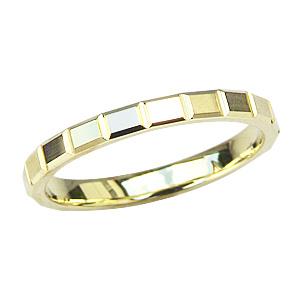 シンプル メンズジュエリー 指輪 地金リング K18 ゴールド マリッジリング デザインカットリング 送料無料