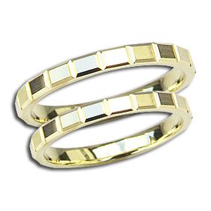 ペアリング 結婚指輪 マリッジリング 地金リング シンプル 指輪 K18 ゴールド デザインカットリング プレゼント 記念日