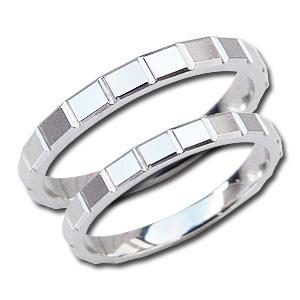ペアリング シンプル 指輪 結婚指輪 マリッジリング 地金リング PT900 プラチナ デザインカットリング プレゼント 記念日