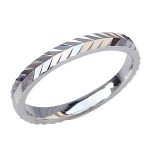 プラチナ デザインカットリング 結婚指輪 シンプル 指輪 PT900 地金リング メンズリング 送料無料 バレンタイン