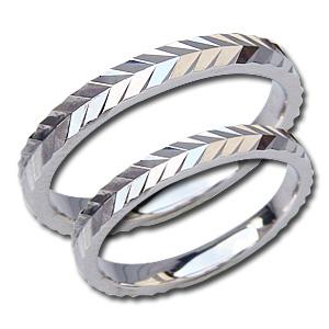 結婚指輪 PT900 プラチナ ペアリング シンプル 指輪 マリッジリング 地金リング デザインカットリング プレゼント 記念日