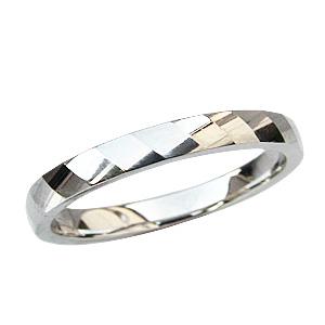 デザインカットリング 結婚指輪 地金リング シンプル PT900 指輪 プラチナ