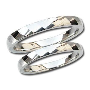 マリッジリング 結婚指輪 PT900 プラチナ ペアリング シンプル 指輪 地金リング デザインカットリング プレゼント 記念日