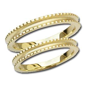 大切な人との大切な瞬間に18金ゴールドペアリング ペアリング プレゼント シンプル マリッジリング 結婚指輪 デザインカットリング 記念日 指輪 K18 ゴールド 地金リング