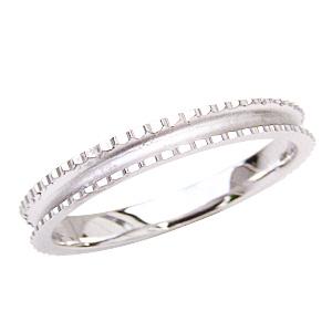 指輪 地金リング シンプル デザインカットリング 結婚指輪 PT900 プラチナ