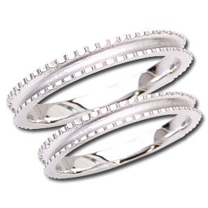 ペアリング シンプル デザインカットリング マリッジリング 地金リング シンプル 指輪 PT900 プラチナ 結婚指輪 プレゼント 記念日