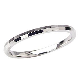 プラチナ シンプル デザインカットリング指輪 地金リング 結婚指輪 PT900 マリッジリング
