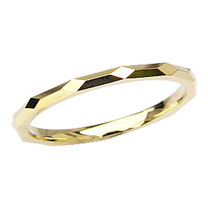 結婚指輪 シンプル デザインカットリング ゴールド 男性用 地金ジュエリー 指輪 K18 メンズ リング 送料無料 父の日 バレンタイン