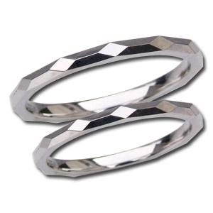マリッジリング ペアリング 結婚指輪 プレゼント 記念日 シンプル デザインカットリング 地金リング シンプル 指輪 PT900 プラチナ