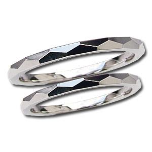 結婚指輪 プレゼント マリッジリング デザインカットリング 指輪 PT900 プラチナ ペアリング 記念日 シンプル 地金リング