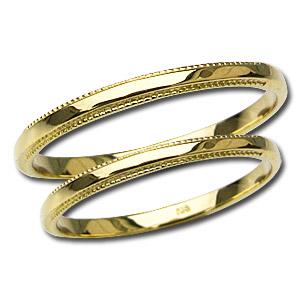 マリッジリング デザインカットリング ペアリング プレゼント 結婚指輪 記念日 シンプル 指輪 K18 ゴールド 地金リング