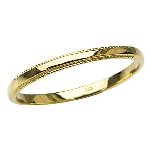 シンプル 地金リング メンズ デザインカットリング K18 ゴールド 指輪 マリッジリング 結婚指輪 送料無料 父の日 バレンタイン