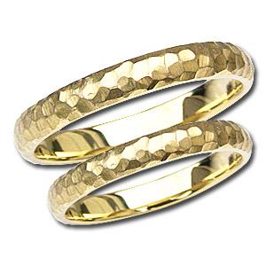 結婚指輪 シンプル 指輪 マリッジリング デザインカットリング ペアリング プレゼント 記念日 K18 ゴールド 地金リング