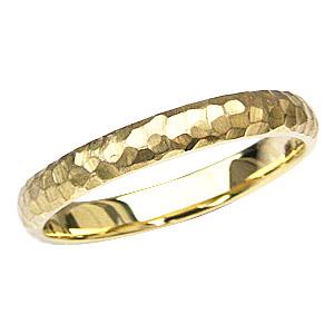 デザインカットリング 結婚指輪 シンプル K18 ゴールド 指輪 マリッジリング 地金リング