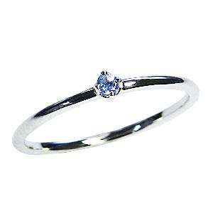 タンザナイト リング ピンキーリング 一粒石 プラチナ PT900 シンプル 指輪 12月誕生石 送料無料