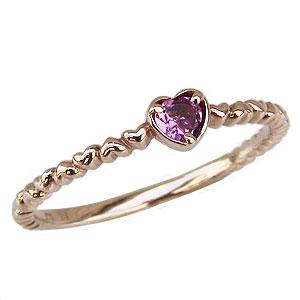 ハートリング ピンクトルマリンリング 指輪 ピンクトルマリン ピンクゴールド K18 送料無料