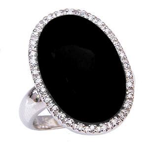 オニキスリング オニキス指輪 ダイヤモンド 0.16ct ホワイトゴールド K18WG 18金 送料無料 8月誕生石 Onyx 誕生日プレゼント ホワイトデー クリスマスプレゼント カジュアル