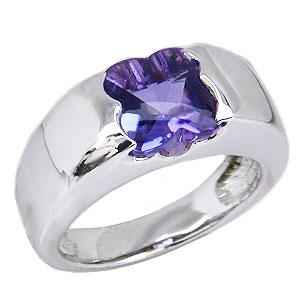 アメジストリング 紫水晶 指輪 ホワイトゴールド K18WG アメジスト 2月誕生石 送料無料 カジュアル
