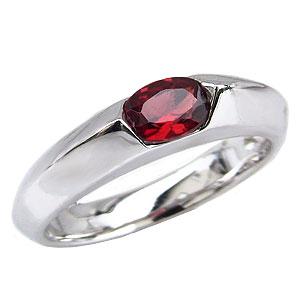 ガーネットリング 柘榴石 リング ガーネット 指輪 ダイヤモンド 0.02ct K18 ホワイトゴールド 1月誕生石 送料無料 カジュアル
