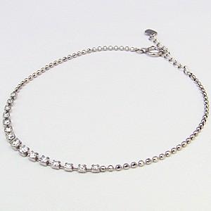 ダイヤモンドブレスレット 0.50 テニスブレス K18 ホワイトゴールド