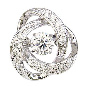 ブローチ メンズ ダイヤモンド ダンシングストーン タイニーピン K18WG ホワイトゴールド トゥインクルセッティング 送料無料 クリスマス アンティーク調 父の日 バレンタイン