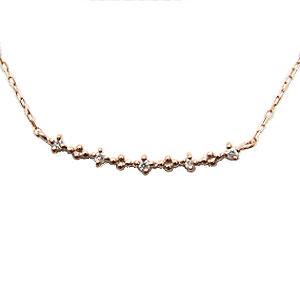 ダイヤモンド ペンダント ネックレス ピンクゴールド K18 シンプル ダイヤモンド 0.03ct 送料無料