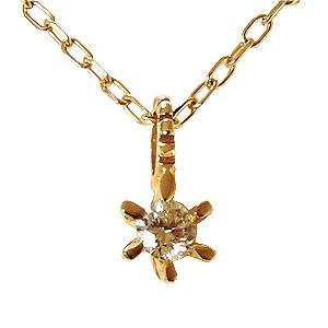 ペンダント ネックレス ダイヤモンド 0.03ct K10 ダイヤモンドネックレス ペンダント 花デザイン 4月誕生石 送料無料