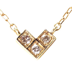 ペンダント ネックレス ダイヤモンド 0.03ct K18 ダイヤモンドネックレス ペンダント 4月誕生石 送料無料