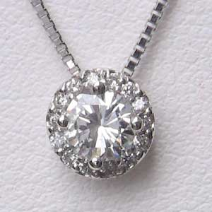 母の日 2019 ネックレス ダイヤモンド PT900 プラチナ ペンダントネックレス ベネチアンチェーン付き