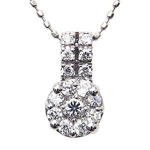 母の日 2019 ダイヤモンド ネックレス ダイヤ0.28ct ペンダント K18ホワイトゴールド