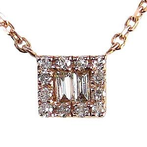 母の日 2019 ダイヤモンドペンダント ネックレス ピンクゴールド K18 ダイヤモンド 0.10ct