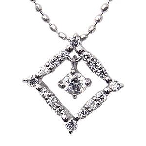 母の日 2019 ダイヤモンド ネックレス ダイヤモンド0.20ct ホワイトゴールド K18WG