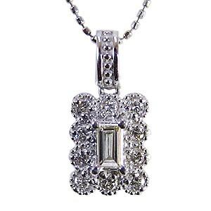 母の日 2019 ダイヤモンド ペンダントトップ プラチナ PT900 ネックレス 0.20ct