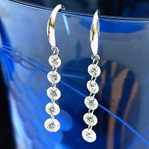 ダイヤモンド ピアス アメリカンピアス プラチナ PT900 1.00カラット 送料無料 普段使い