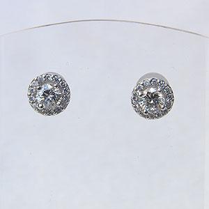 メンズ ダイヤモンド ピアス PT900 プラチナ900 シリコンキャッチ付 送料無料 父の日 バレンタイン 普段使い