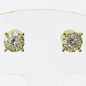 メンズ ダイヤモンド ピアス K18 ゴールド 送料無料 バレンタイン 普段使い