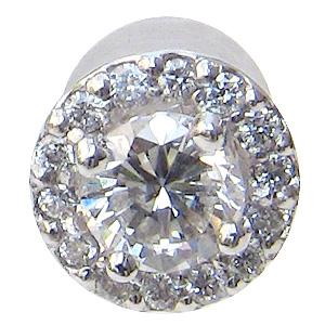 ダイヤモンド ピアス PT900 プラチナ 片耳用ピアス メンズジュエリー 送料無料 バレンタイン 普段使い