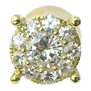ピアス ダイヤモンド K18 ゴールド 片耳用 ピアス メンズジュエリー 送料無料 バレンタイン 普段使い
