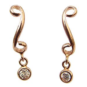 ダイヤモンド0.04ct 一粒石 スタッドピアス K10 ピンクゴールド 4月誕生石 送料無料 普段使い