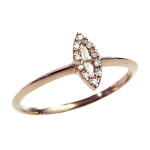 ピンキーリング ダイヤモンドリング 指輪 ピンクゴールド K18 送料無料