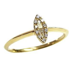 ピンキーリング ダイヤモンドリング 指輪 イエローゴールド K18 送料無料