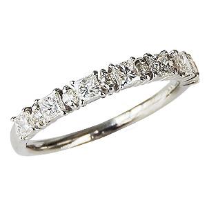 母の日 2019 ダイヤモンドリング ダイヤリング エタニティーリング ダイヤモンド0.55ct ダイヤモンド指輪 ダイヤ ホワイトゴールド K18WG 送料無料 誕生日プレゼント クリスマスプレゼント ホワイトデー 記念日