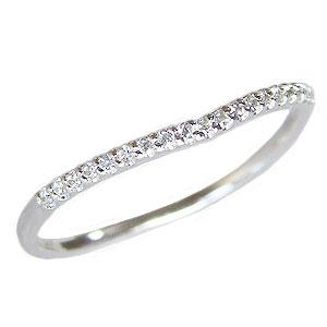 ダイヤモンド リング エタニティリング 指輪 ダイヤモンド 0.09ct エタニティ K18WG ホワイトゴールド 送料無料