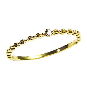ダイヤモンドリング K18 指輪 ゴールド 一粒ダイヤ マリッジリング 0.01ct