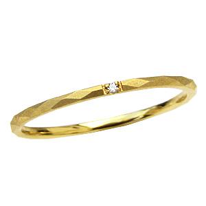 ピンキーリング ダイヤモンドリング 一粒ダイヤモンド K10 ゴールド 指輪 ファランジリング ミディリング 送料無料