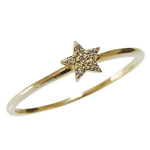 ダイヤモンドリング ピンキーリング ダイヤリング スター 星 ダイヤモンド指輪 ダイヤモンド スターリング K18 ゴールド 18金 送料無料 レディース 4月誕生石 誕生日プレゼント クリスマスプレゼント ホワイトデー 記念日 カジュアル