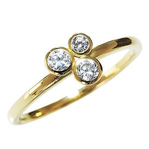 ダイヤモンドリング ピンキーリング ダイヤリング ダイヤモンド0.13ct ダイヤモンド指輪 ダイヤ 18金 K18 k18 ゴールド イエローゴールド 送料無料 レディース 4月誕生石 誕生日プレゼント クリスマスプレゼント ホワイトデー 記念日