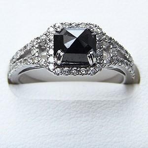 メンズリング ピンキーリング ブラックダイヤモンド ダイヤモンド リング K18WG ホワイトゴールド 指輪 送料無料 カジュアル 父の日 バレンタイン
