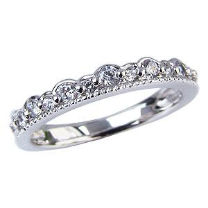 ピンキーリング ダイヤモンドリング ティアラリング 王冠 ダイヤモンド 指輪 ダイヤ 0.20ct 送料無料 カジュアル